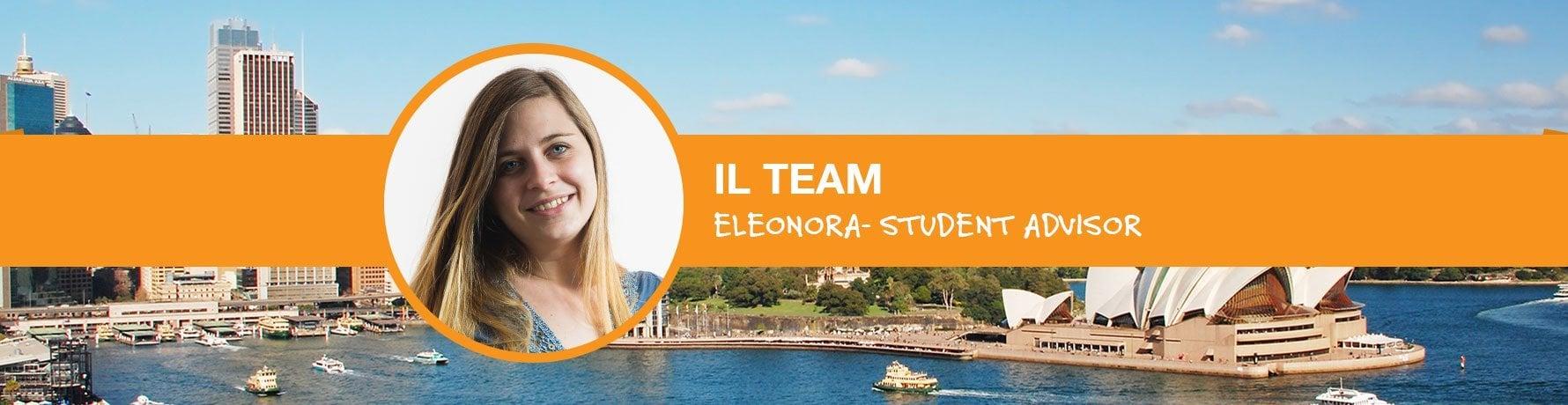 Il Team si presenta: Eleonora - Student Advisor