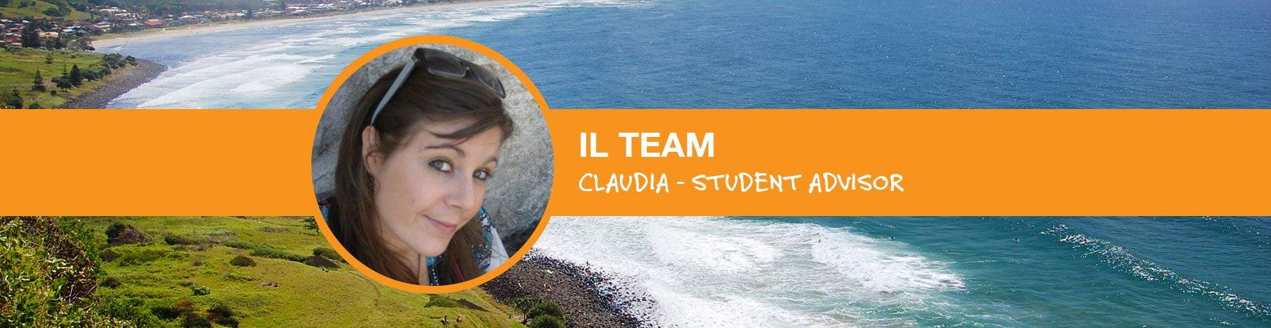 Il Team si presenta: Claudia - Student Advisor