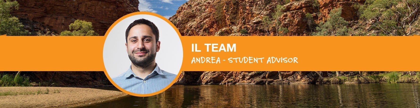 Il Team si presenta: Andrea - Student Advisor