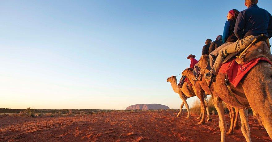 Uluru e i tour a cammello
