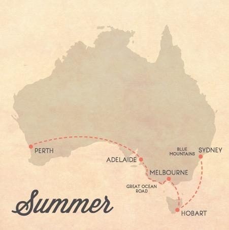 australia itinerario estate
