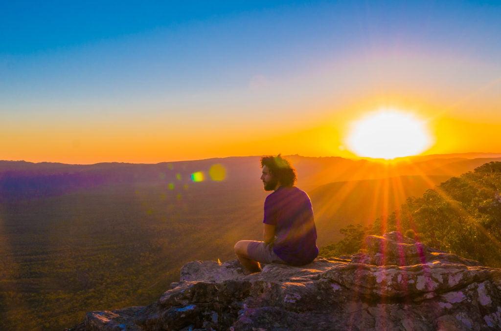 Francesco e un tramonto australiano - Positivitrip